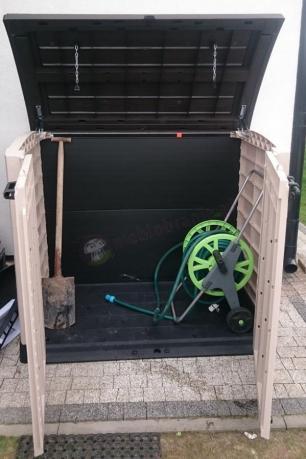 Pojemna szafa na wąż ogrodowy i narzędzia Keter Store-It-Out