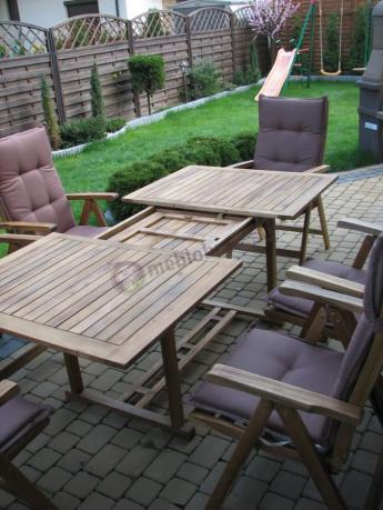 Praktyczne Drewniane Meble Tarasowe Z Rozkładanym Stołem