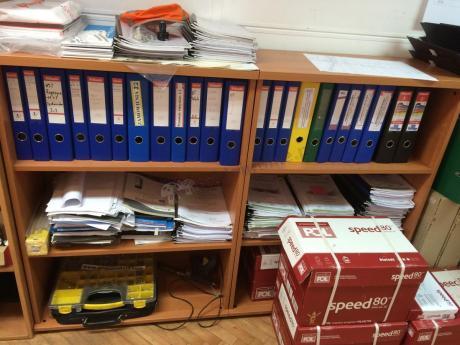 Regały na dokumenty biurowe svenbox H35
