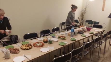 Składane stoły konferencyjne 180x80 cm w odcieniu klon