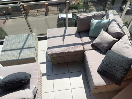 Sofy z technorattanu modułowe idealne na balkon