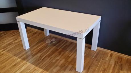 Stół biały nierozkładany połysk model Capri