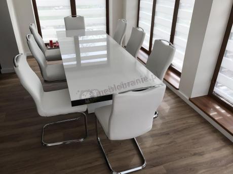 Stylowy stół do jadalni na wysoki połysk Victoria