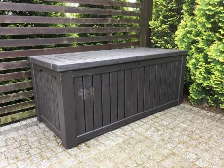 Wysokiej jakości skrzynia ogrodowe w stylu drewnianym Keter Rockwood