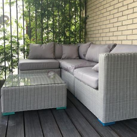 Zestaw wypoczynkowy ogrodowy Ligurito V Off-White