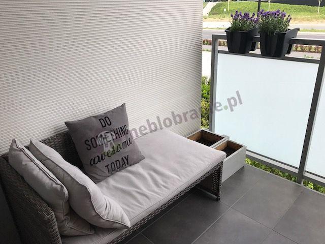 Mała sofa technorattan na balkon w dobrej cenie Canvas Caffe