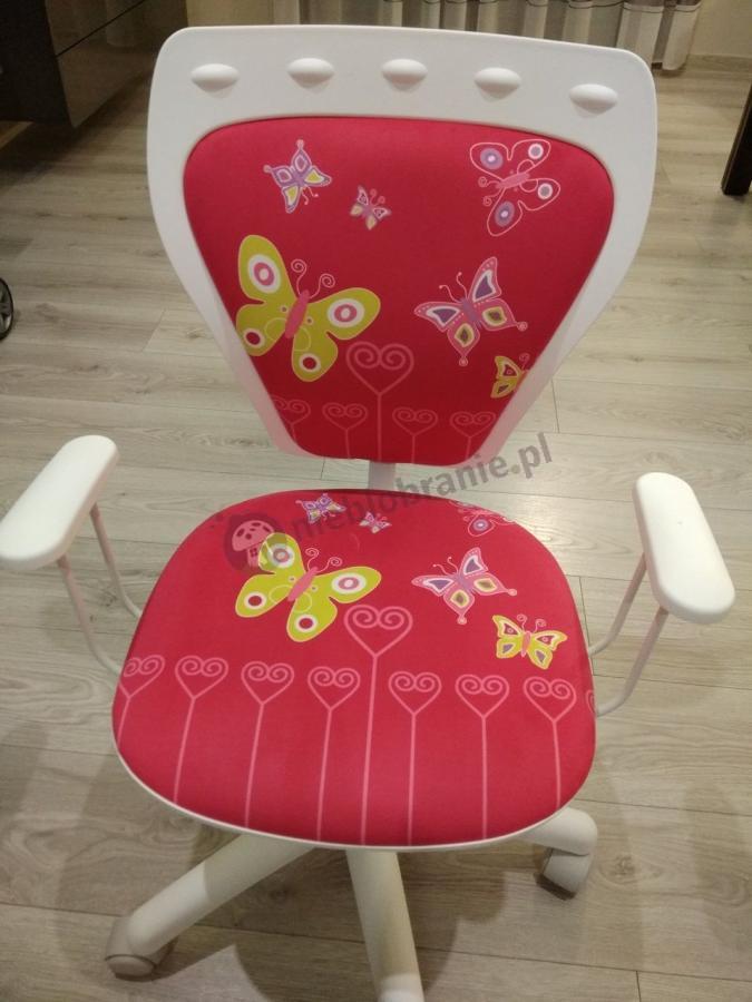 Małe krzesło biurowe Butterfly Ministyle White