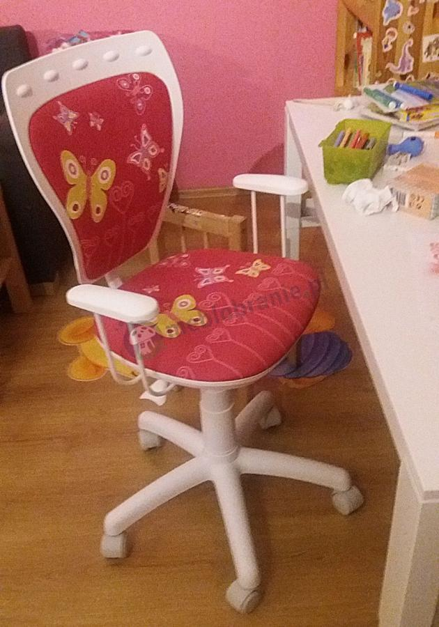 Małe krzesło obrotowe dla dzieci Motyle