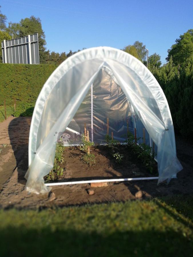 Mały namiot foliowy na działkę do uprawy warzyw
