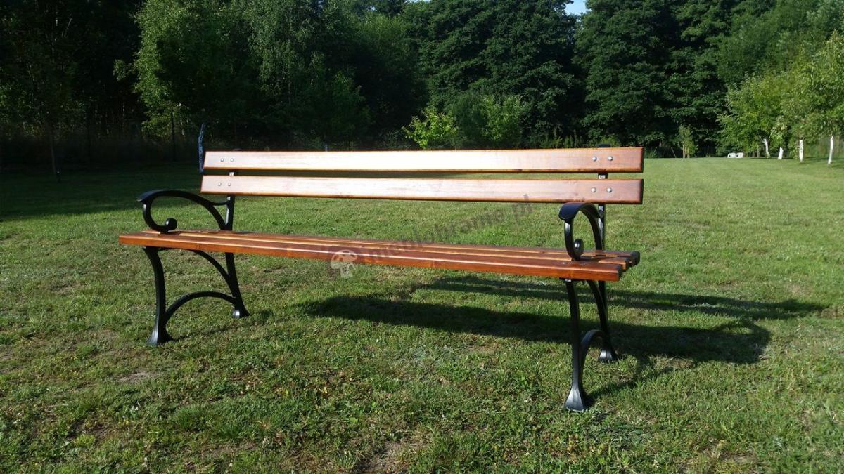 Masywna żeliwna ławka parkowa 180 cm