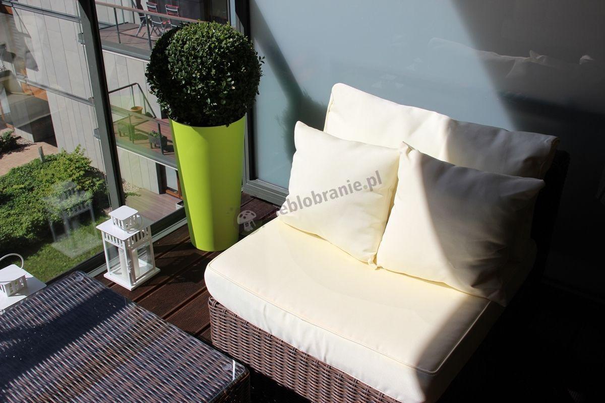 Meble balkonowe technoratan modułowy narożnik z poduszkami
