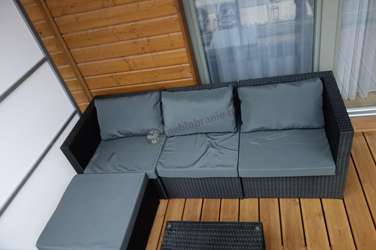 Meble balkonowe z technorattanu model modułowy Farlito