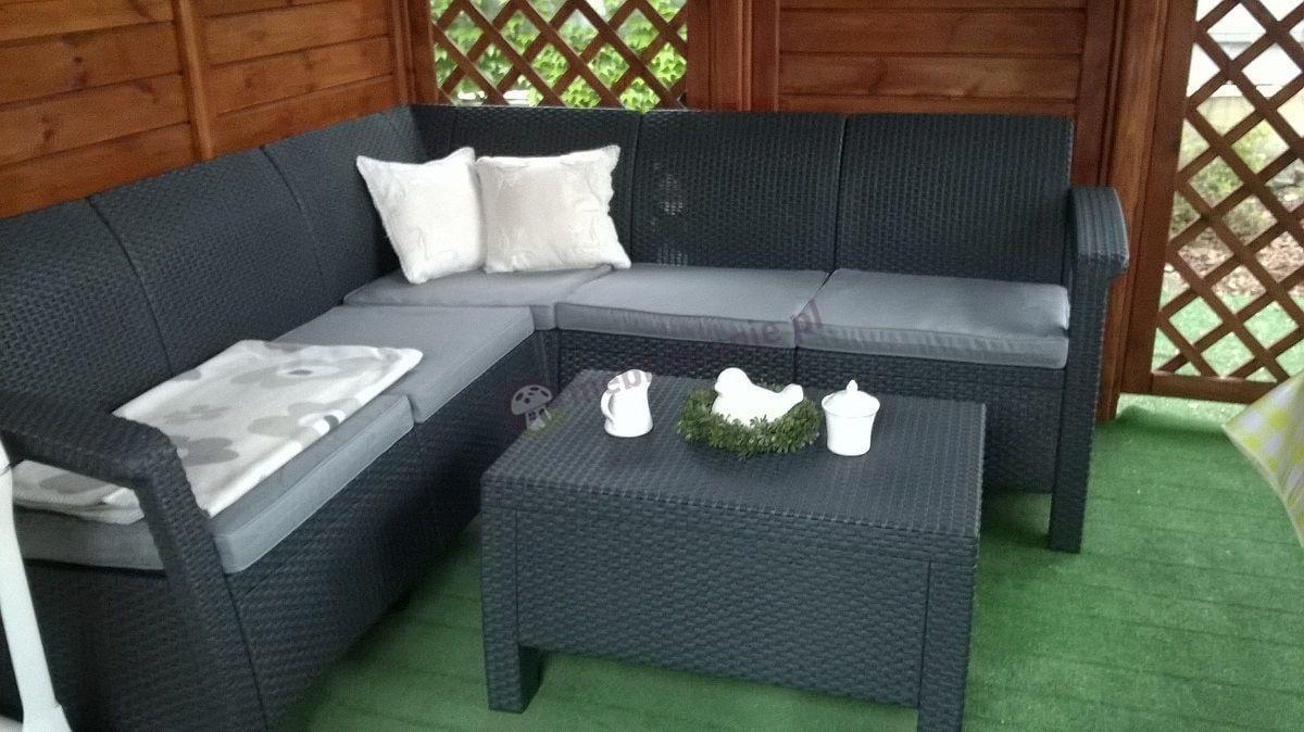 Meble Corfu Set Relax z białymi dodatkami