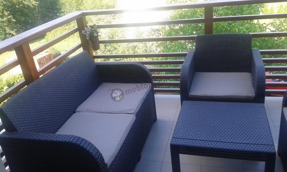 Meble na balkon Georgia Set Curver brązowe