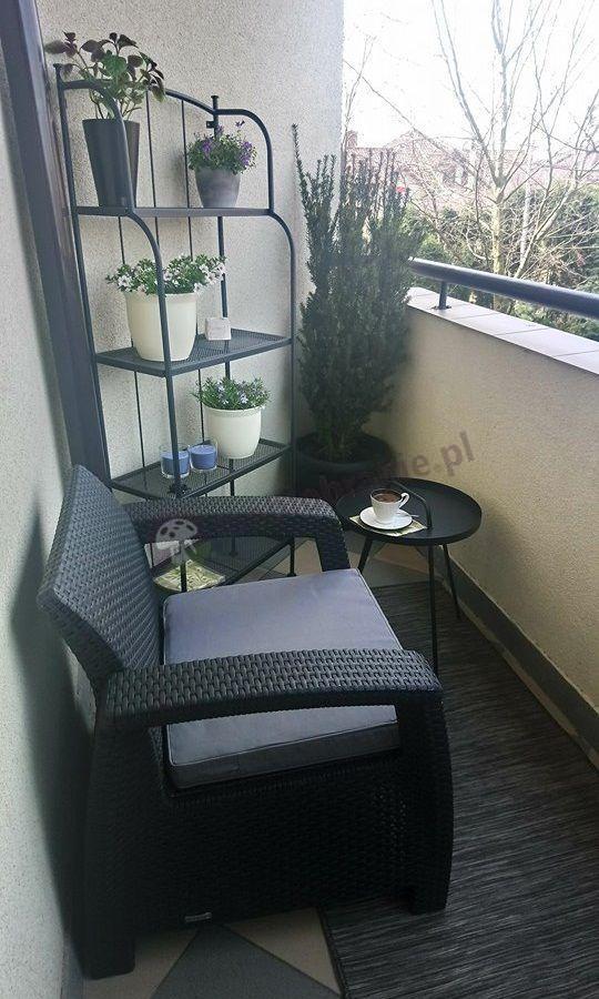 Meble na balkon w bloku fotele ogrodowe Curver Corfu Duo