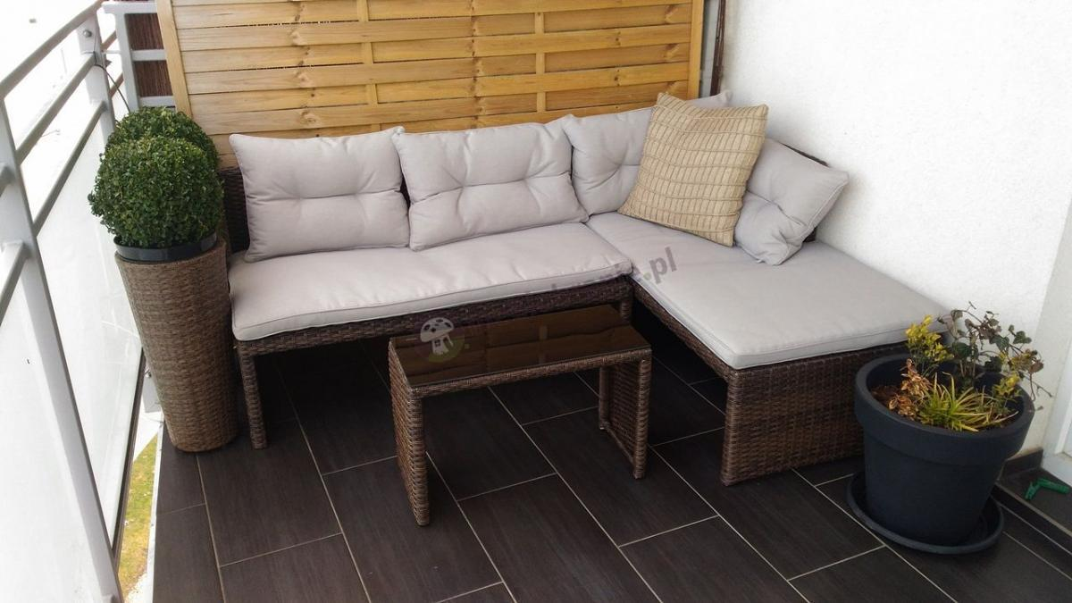 Meble na balkon z technorattanu Canvas Brown