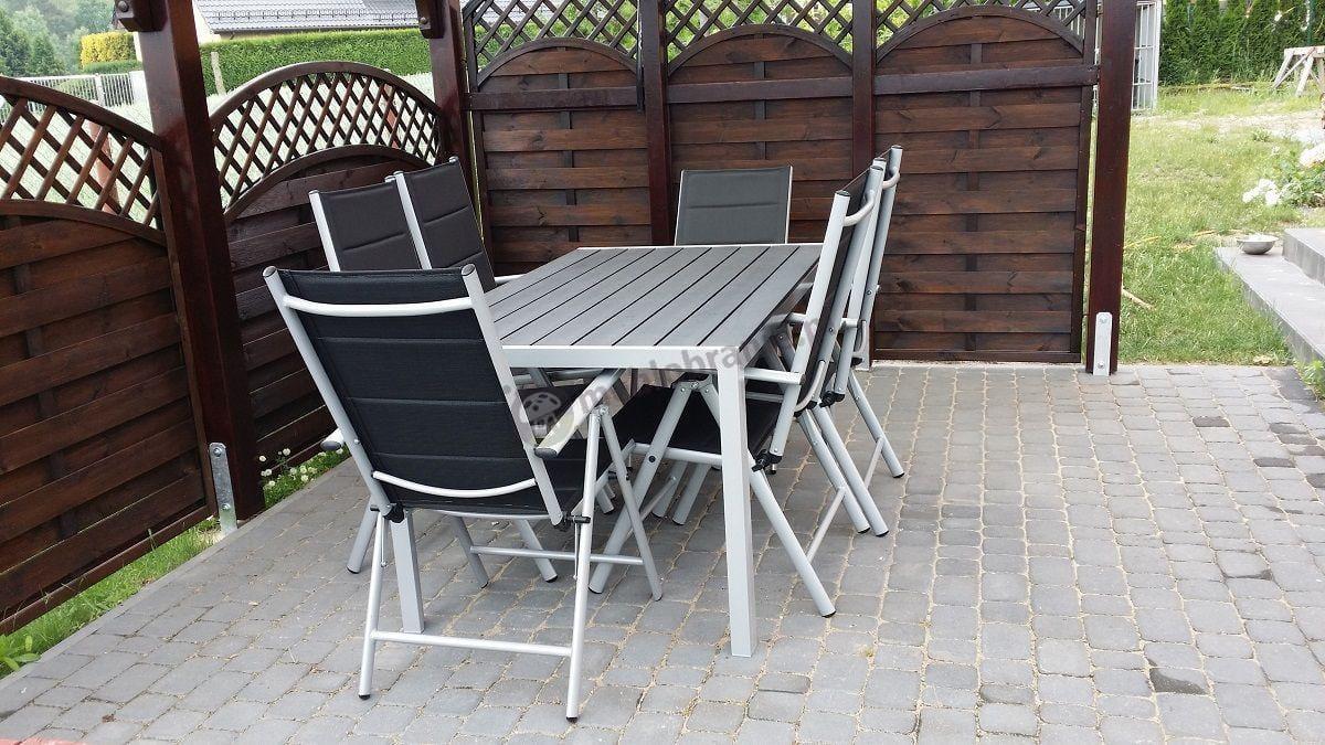 Meble ogrodowe aluminiowe - stół i krzesła