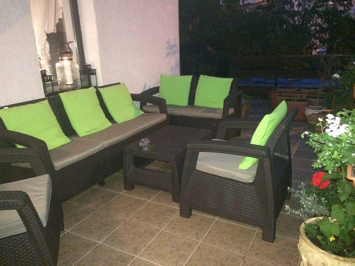 Meble ogrodowe Corfu Set Triple Max brązowe