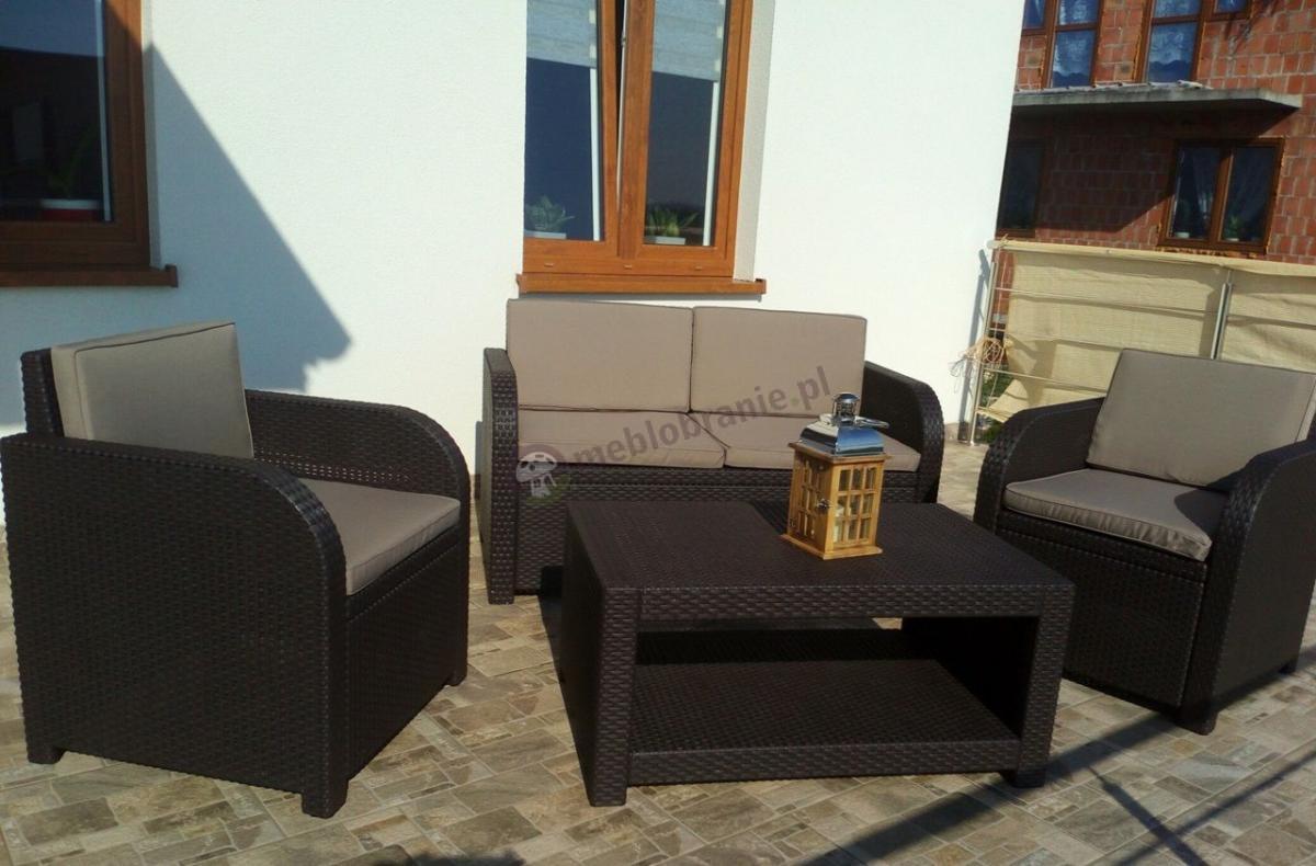 Meble ogrodowe do samodzielnego montażu Allibert Modena Lounge Set