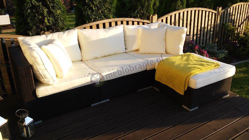 Meble ogrodowe technoratan sofa modułowa narożna