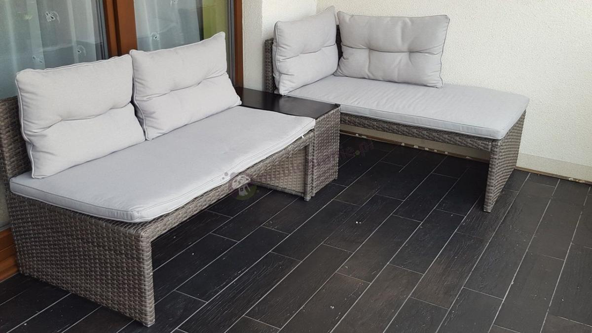 meble ogrodowe technorattan canvas na balkon aran acje. Black Bedroom Furniture Sets. Home Design Ideas