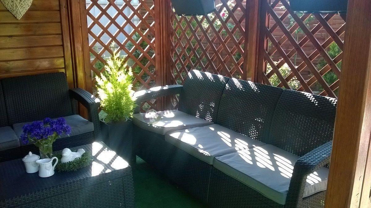 Meble ogrodowe technorattan Corfu narożnik i sofa