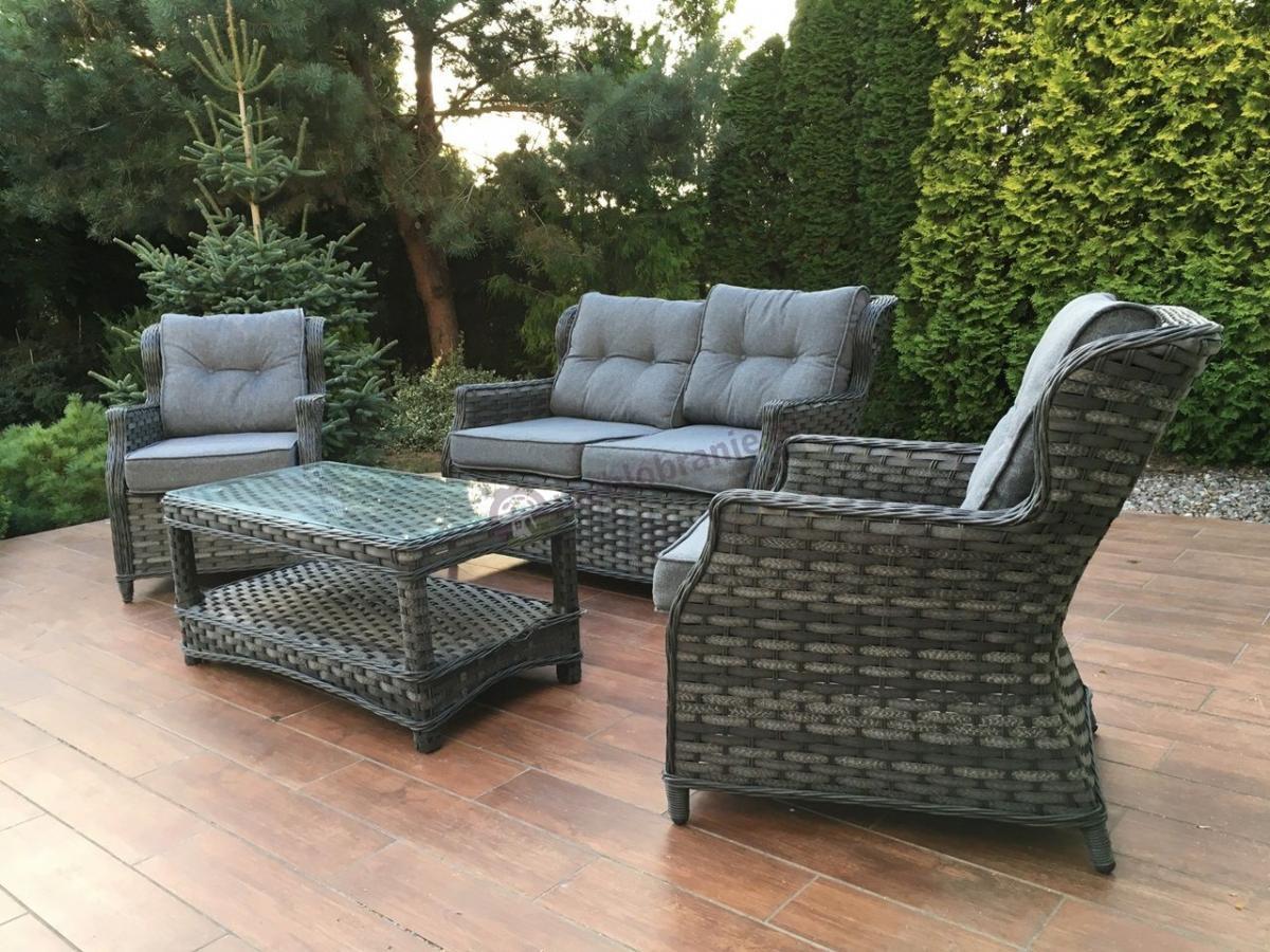 Meble ogrodowe w stylu angielskim Trivento Melange Grey
