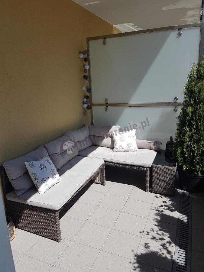 Meble rattanowe na mały balkon narożnik Canvas