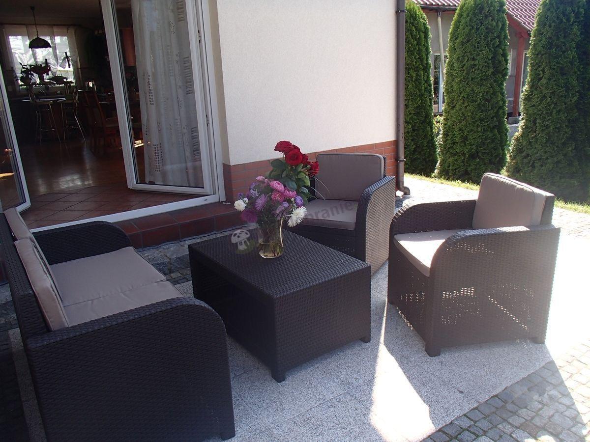 Meble tarasowe technorattan efekt Modena Lounge Set