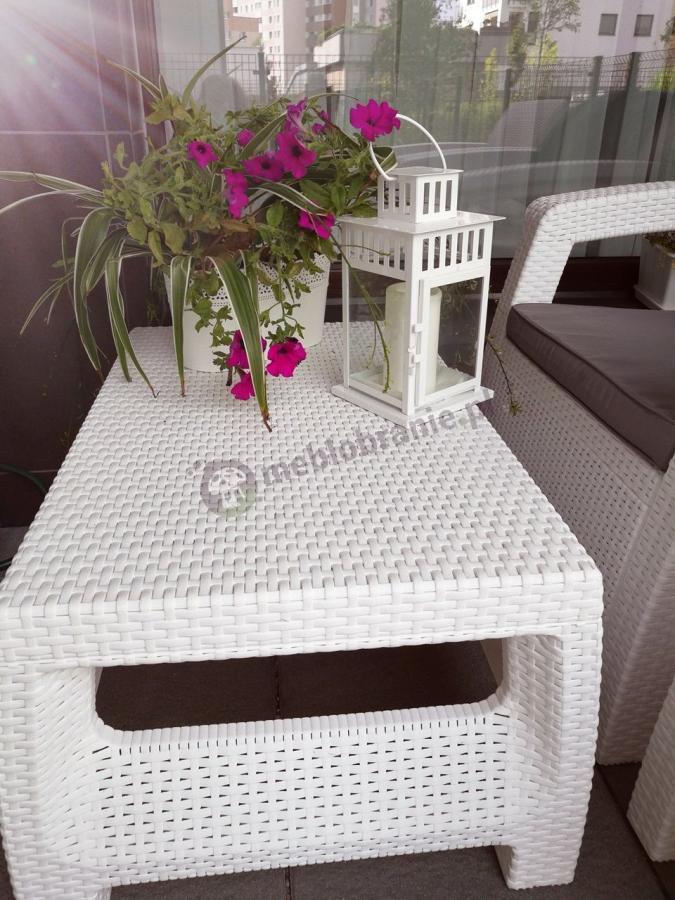 Meble wykonane w technologii Technorattan Look zestaw Corfu Set Biały