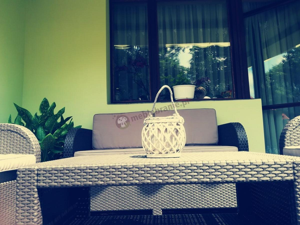 Modena Lounge Set zestawy na balkon technorattan look