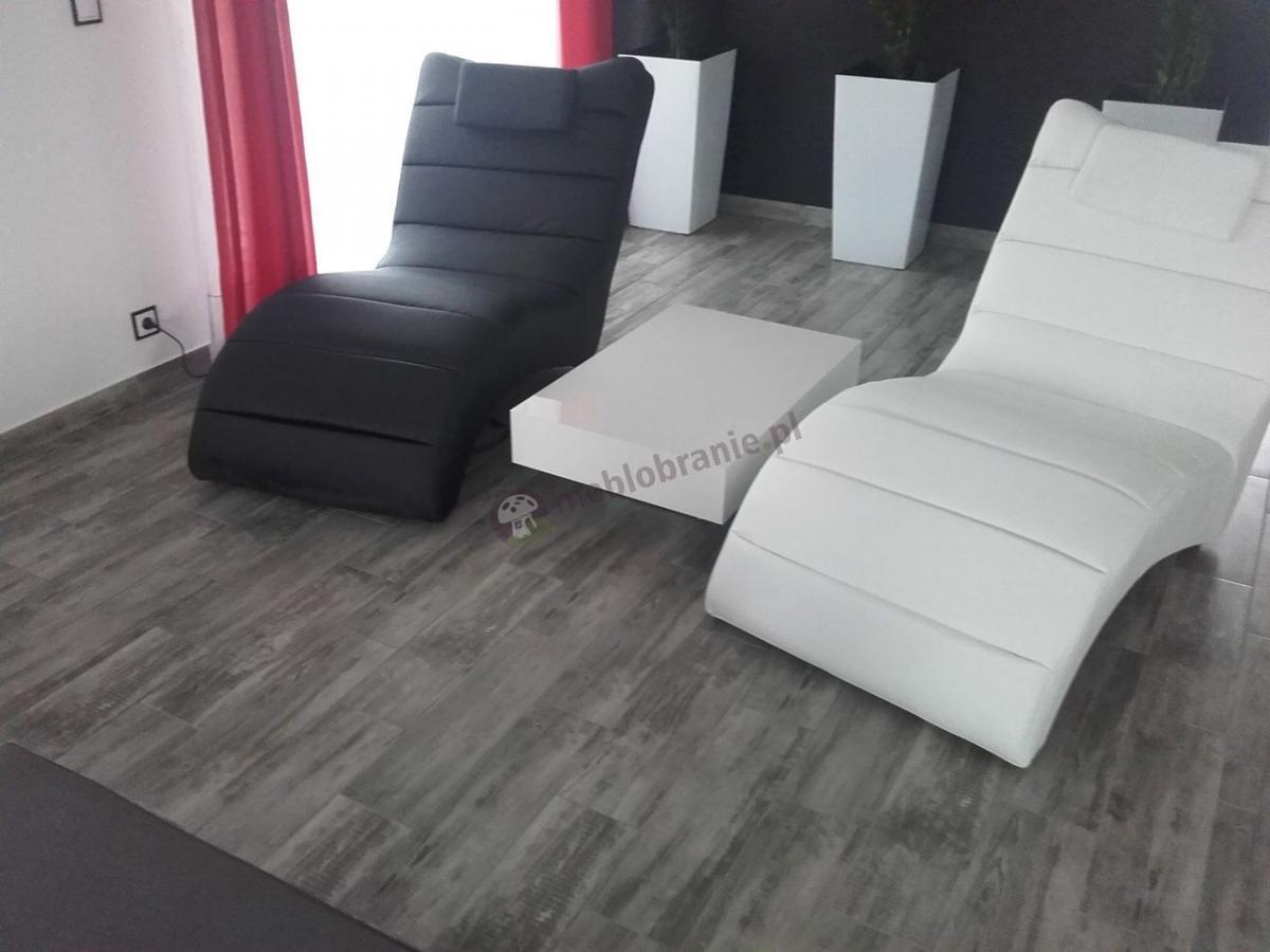 Modny stolik do salonu Pixel X biały połysk