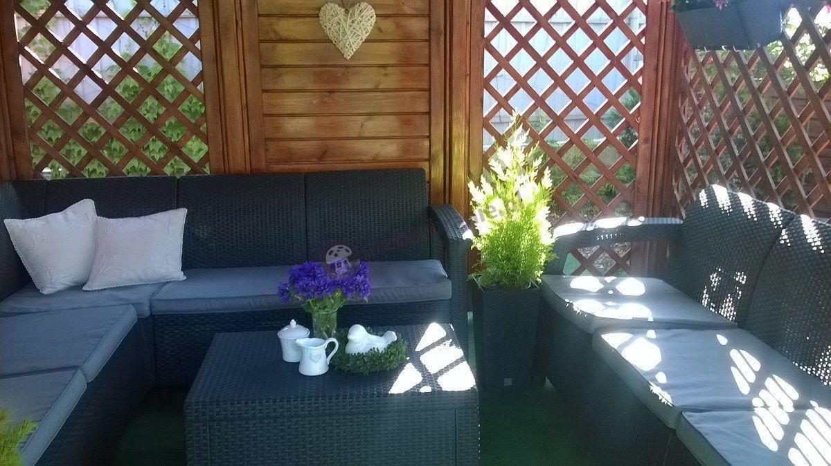 Narożnik Corfu Relax Set w komplecie z trzyosobową sofą