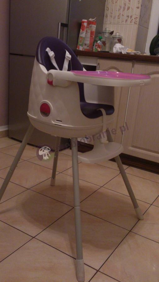 Nowoczesne krzesełko do karmienia Keter fioletowe