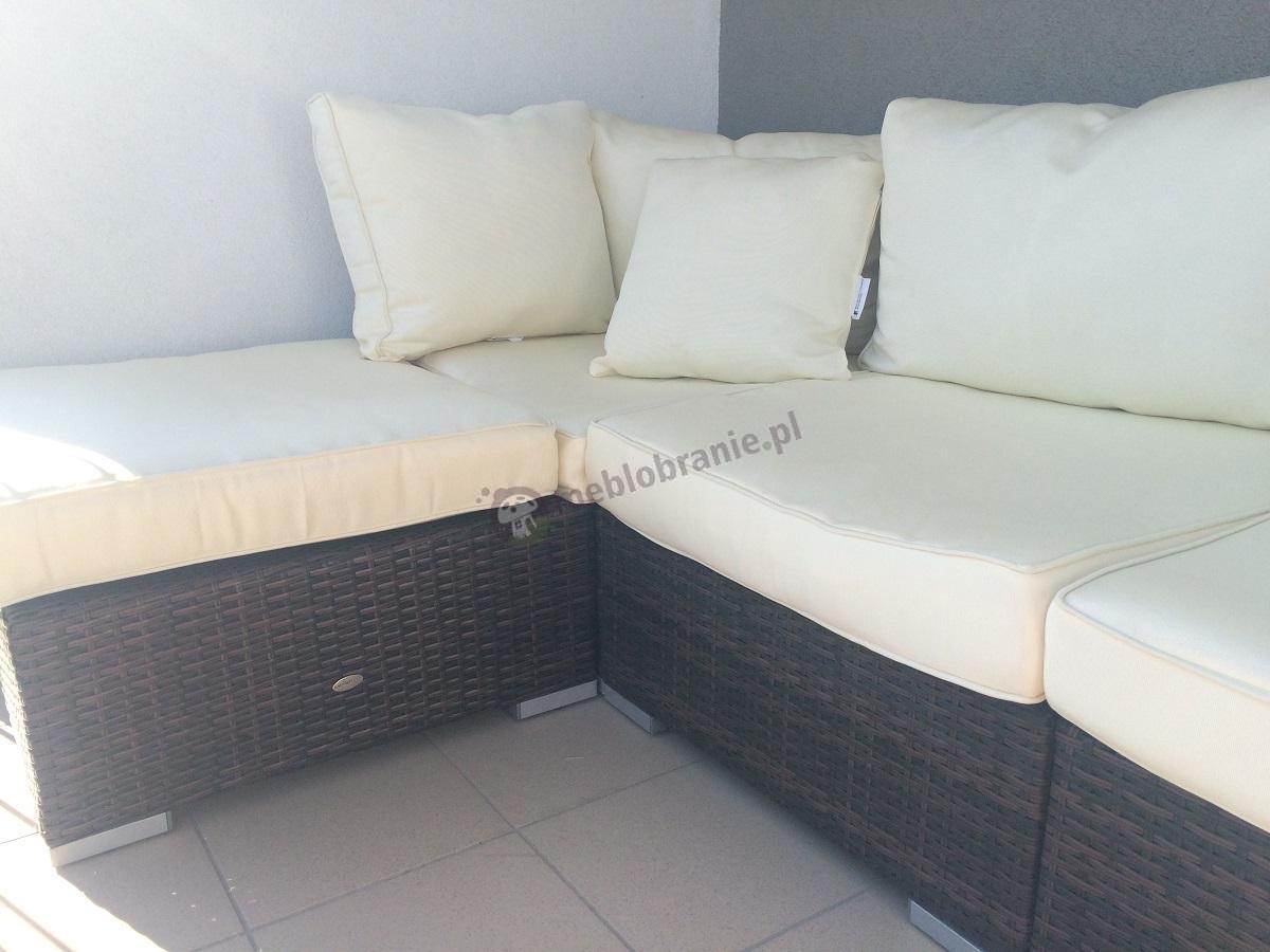 Nowoczesne meble ogrodowe z technorattanu sofa narożna