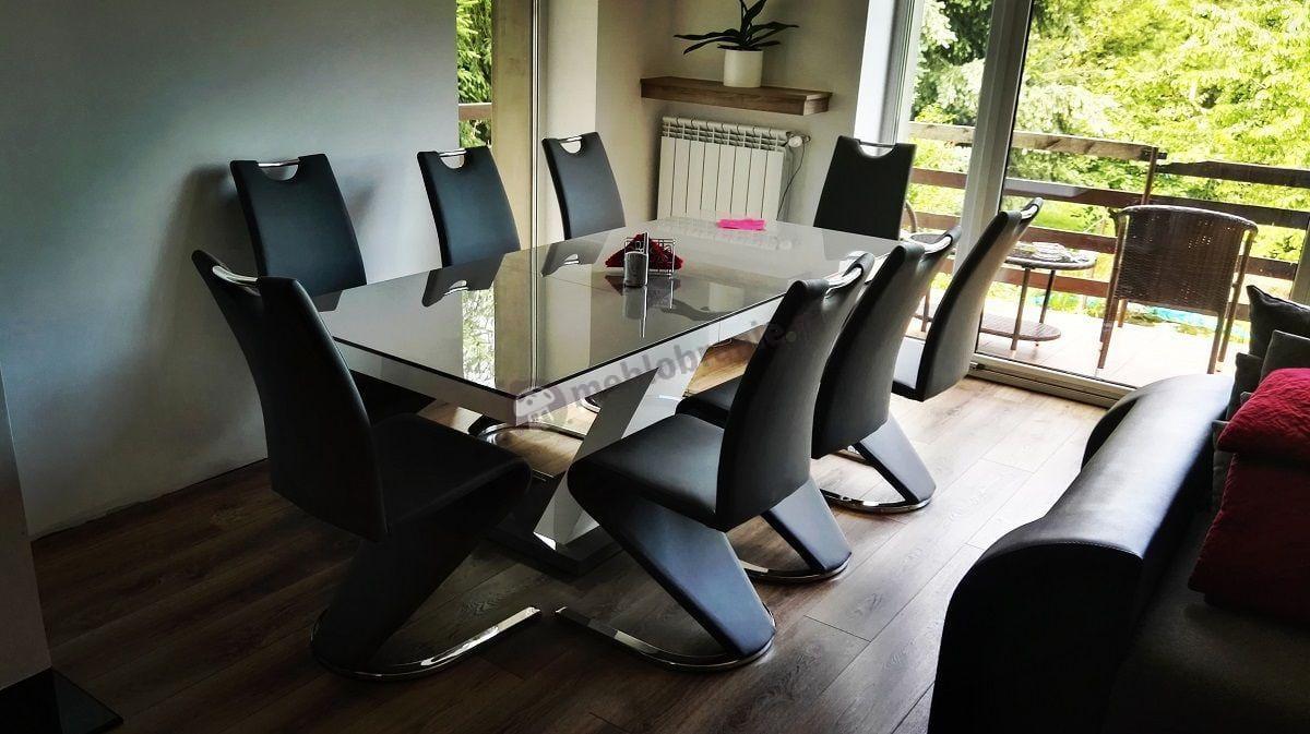 Nowoczesny stół rozkładany Xenon wysoki połysk