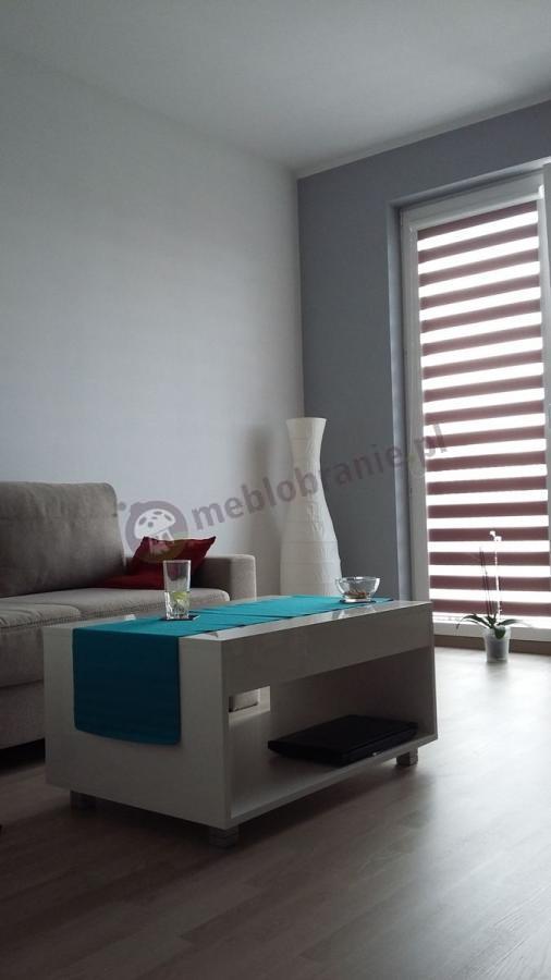 Nowoczesny stolik kawowy biały o wysokości 45 cm