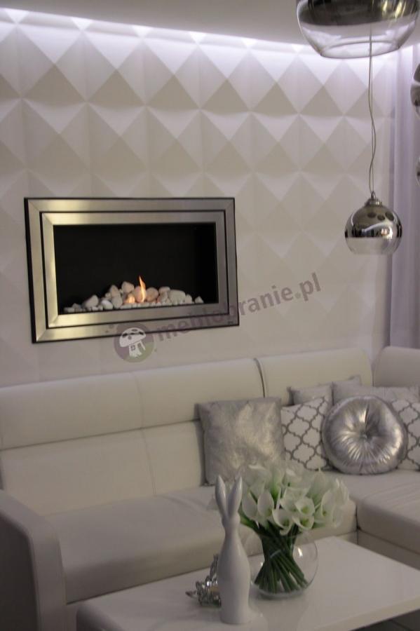 Panele gipsowe z kominkiem diamentowe ekskluzywne Loft Model 09
