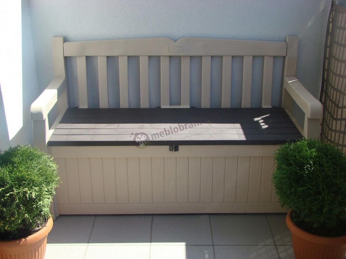 Plastikowa ławka ogrodowa ze skrzynią Eden Garden Bench