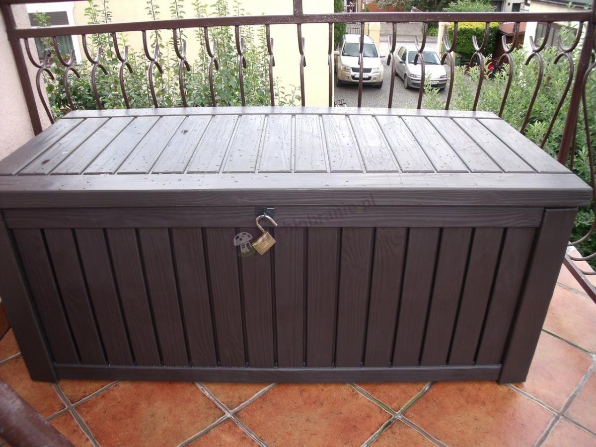 Plastikowa skrzynia ogrodowa z siedziskiem Rockwood Box