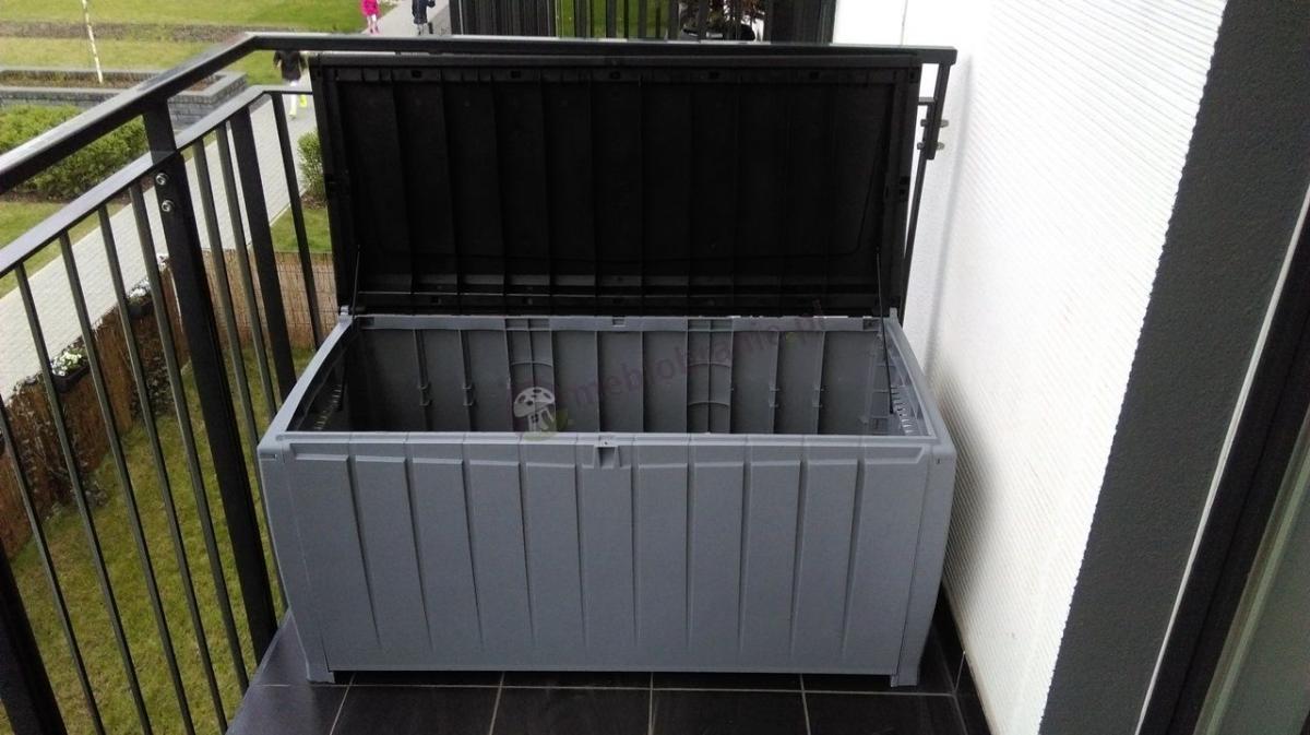 Plastikowa skrzynka ogrodowa na balkon Keter Novel Storage Box 340L