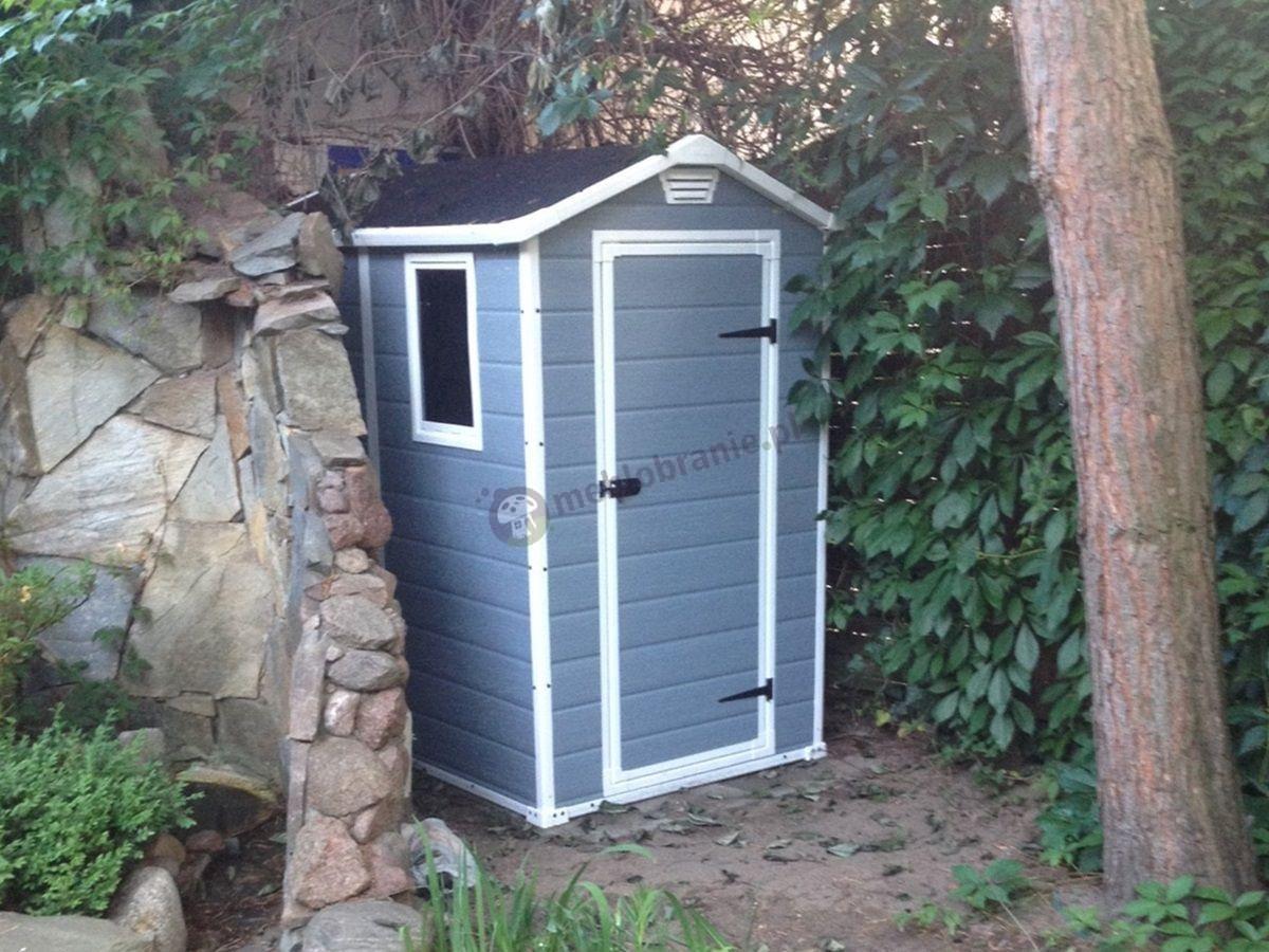Plastikowy domek z narzędziami w ogrodzie Keter Manor 4x6 S