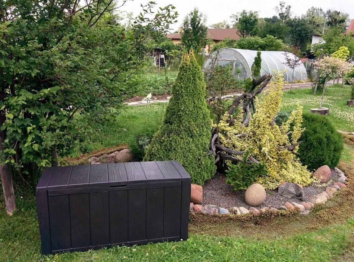 Pojemna skrzynia narzędziowa do ogrodu