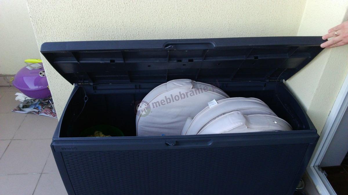 Pojemna skrzynia z wytrzymałego tworzywa na taras Keter Rattan Box