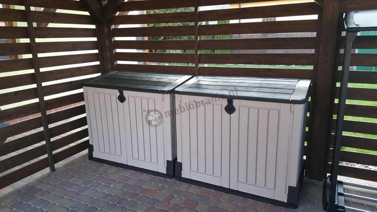 Pojemne szafy na narzędzia ogrodowe plastikowe Keter