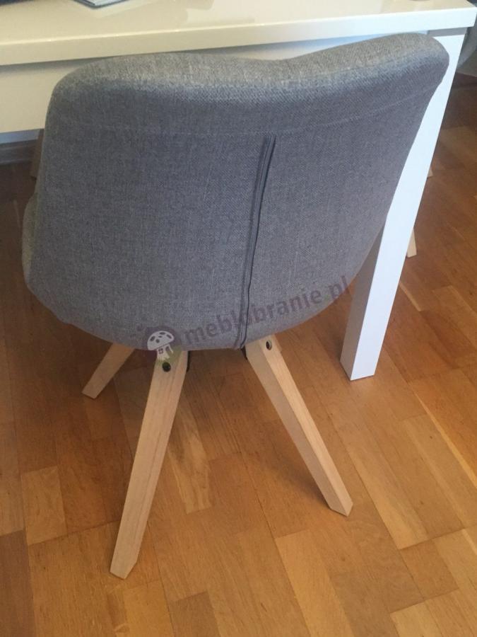 Popularne krzesło do salonu w stylu skandynawskim Actona Dima Szare