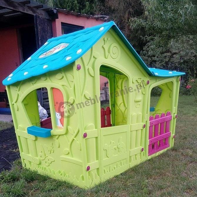 Praktyczny kolorowy domek do zabawy Magic Villa