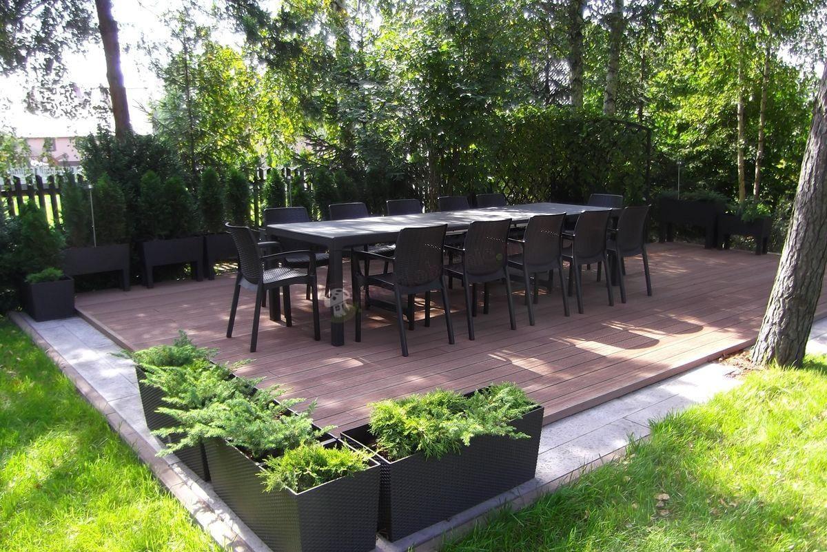 Rozkładane meble ogrodowe dla 12 osób brązowe