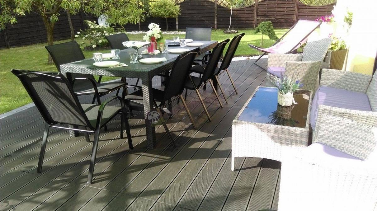 Rozkładany stół na taras do obiadu z 3 wkładkami Keter Sonata 3