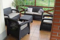 Allibert meble ogrodowe Corfu komplet powiększony o sofę